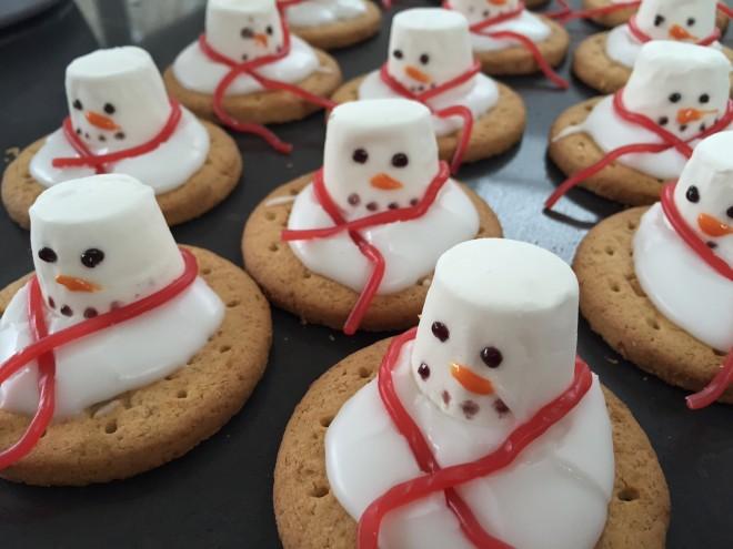 marshmallow, snowman, Christmas