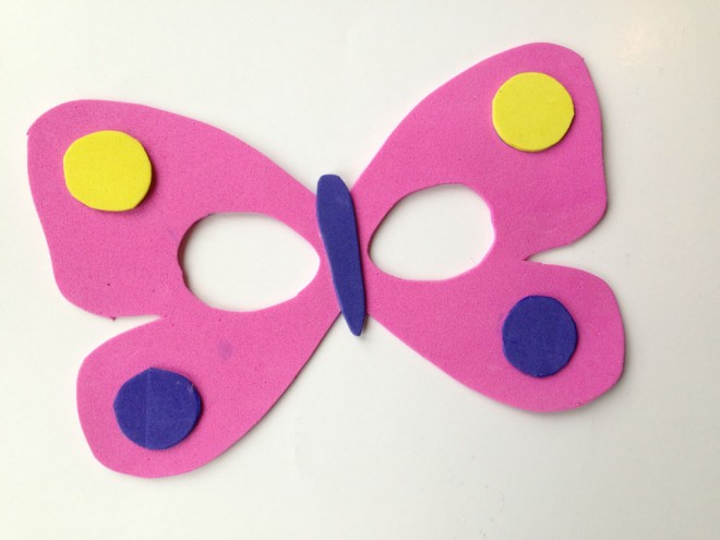 butterfly mask, homemade butterfly mask, how to make a butterfly mask, butterfly mask tutorial, foam craft sheet mask, mask