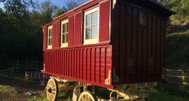 wrigglesbrook gypsy caravan b and b, gypsy wagon rental, wye valley gypsy caravan, unusual places to stay with kids