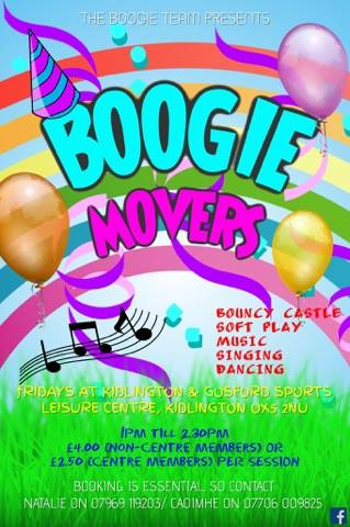 what to do with kids on fridy in Kidlington, boogie movers, kidlington preschool activities