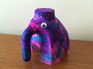 milk bottle elephant, recycle milk bottle craft, how to make milk bottle elephant
