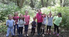 brackley holiday club, forest school
