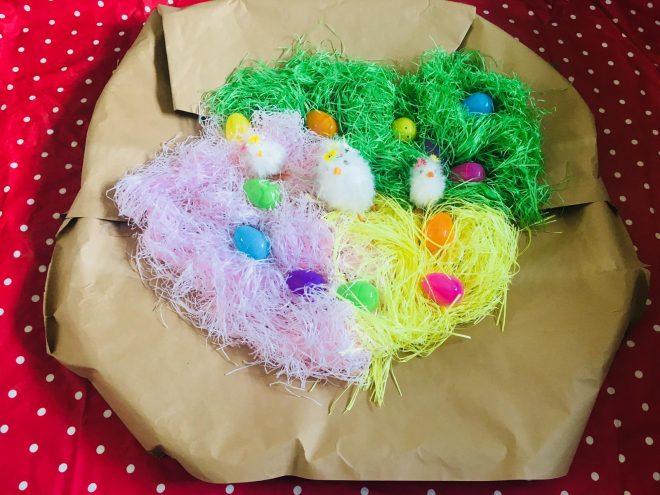 easter kids craft, easter birds nest, easter sensory activities