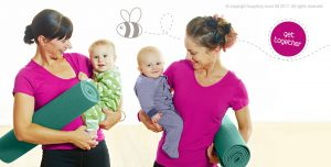postnatal yoga class reading, exercise class with baby reading