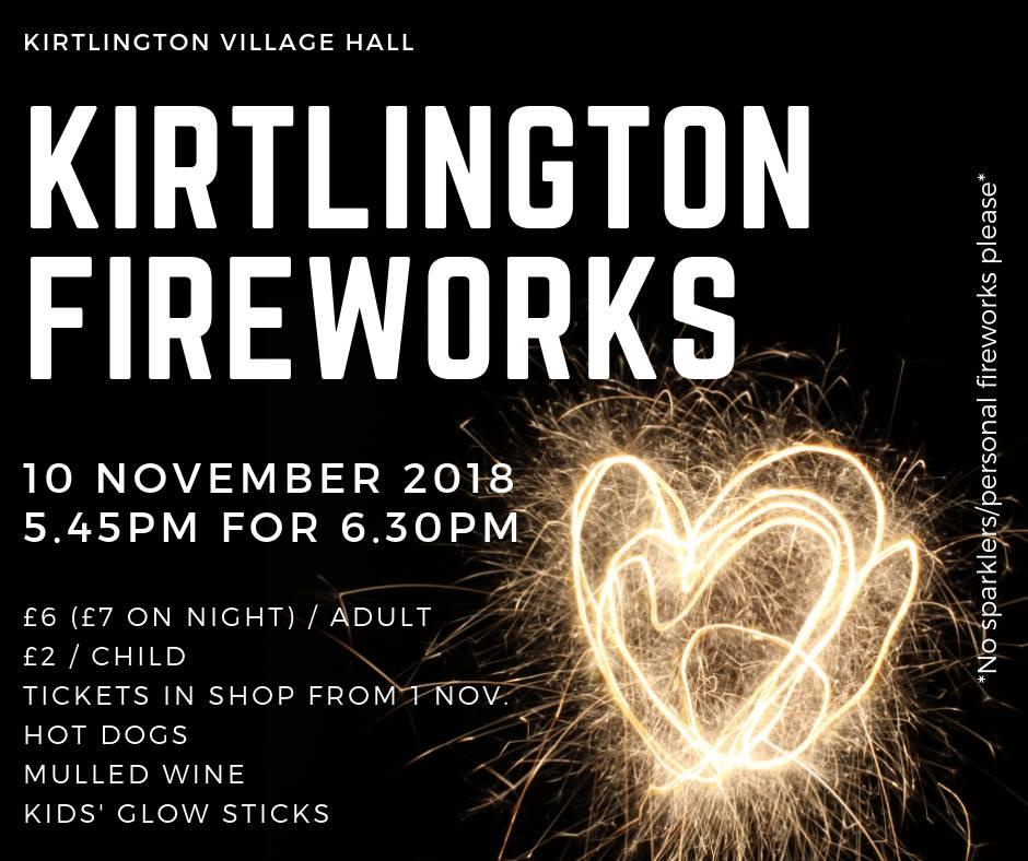 kirtlington fireworks. firework displays 2018