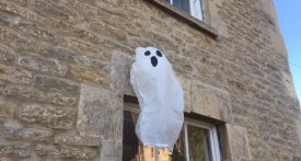 halloween ghost craft, halloween party decoration, kids halloween craft