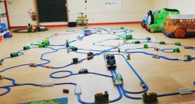 trainmaster, train play session toddlers