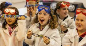 science holiday club, science club kids