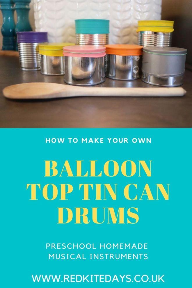 DIY tin can drums, home to make tin can drums