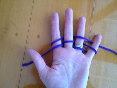 finger knitting, finger knitting step by step, finger knitting tutorial