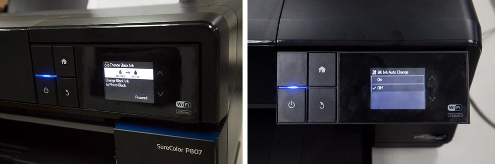 Epson P807 ink swap
