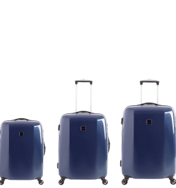 60TWO Navy Hard Luggage Full Set