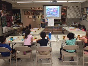 RAA youth art class