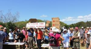 Protest against Toondah Harbour development plans in February 2014