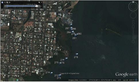Google Earth: a bird's eye view of Toondah Harbour and precinct