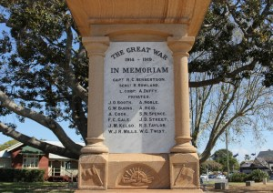 Cenotaph in Cleveland's ANZAC Memorial Park