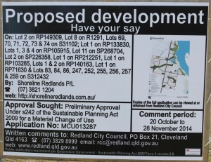 Shoreline notice of proposed development (click to enlarge)