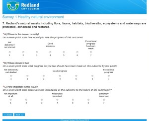 Example of a survey question (click to enlarge)