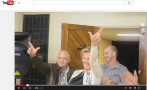 Karen Williams celebrating her election victory