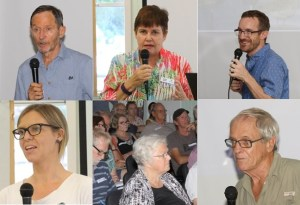 Speakers and audience at a workshop discussing environmental aspects of the proposed Toondah Harbour dredging and residential accomodation project