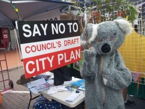 Markets 15 November koala City Plan