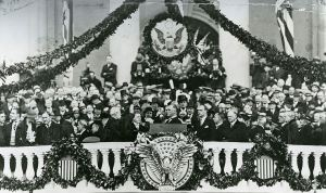 Franklin D. Roosevelt at his first inauguration in 1933 when he said the only thing we have to fear is...fear itself