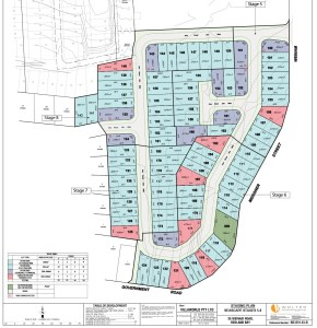 Staging plan for 88 residential lots to be developed by Villa World