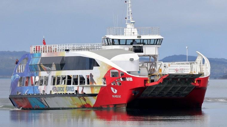 """The Stradbroke Ferries 'Big Red Cat"""" is part of the Sealink fleet"""