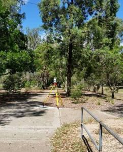 Survey work in William Ross Park