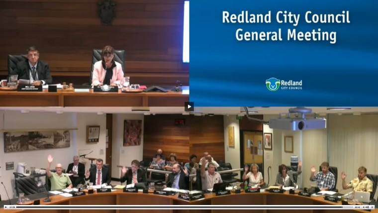 The Ombudsman report was not discussed at the 23 minute meeting of Redland City council on 8 February
