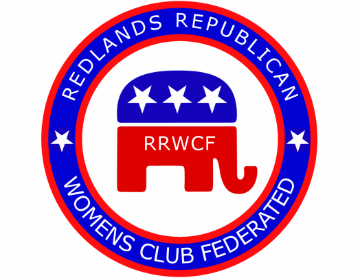 zRedlands Republican women logo with stylized elephand and name of group