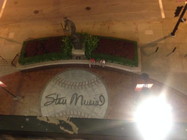 "Tribute to Stan ""The Man"" Musial outside Busch Stadium"