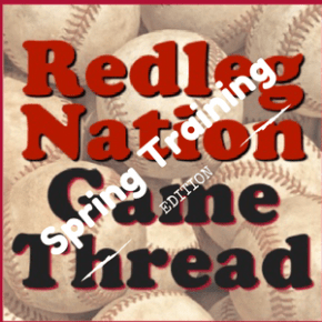 The Reds play baseball today!