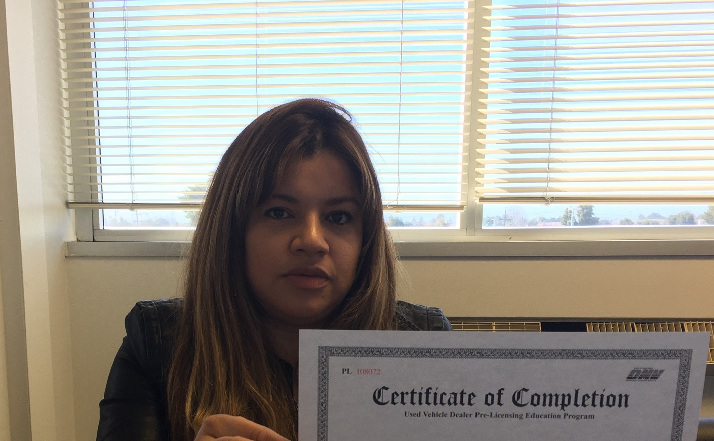 Pre licensing dealer testimonial. Certificate of completion