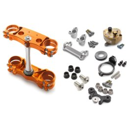 KTM FACTORY TRIPLE CLAMPS STEERING DAMPER KIT EXC 2014 ON