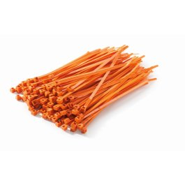 CABLE TIE ORANGE 100PK