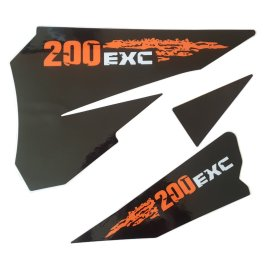 KTM REAR GRAPHIC DECALS 200 EXC 2007