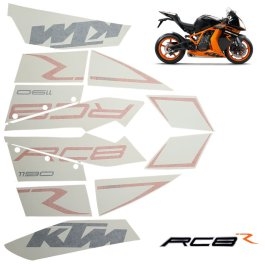 KTM DECAL KIT 1190 RC8 R BLACK 2011-2012