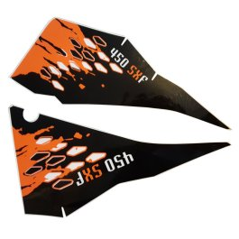 KTM REAR GRAPHIC DECALS 450 SX-F 2008