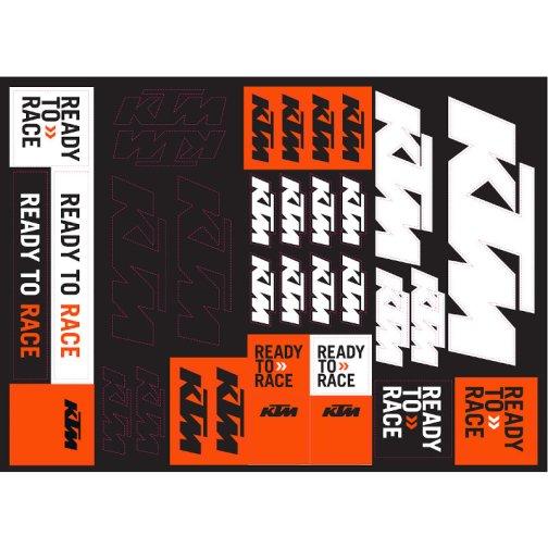 KTM TEAM CORPORATE STICKER SHEET