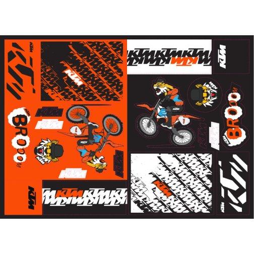 KTM TEAM GRAPHIC STICKER SHEET