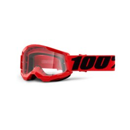 STRATA 2 YOUTH GOGGLE RED – CLEAR LENS