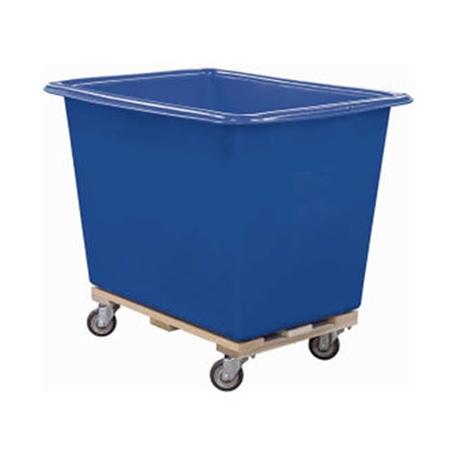 Rotational molded plastic laundry cart