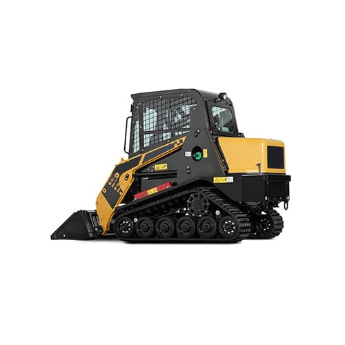 Thermoformed ABS with fiberglass reinforcement skid loader engine cover hood