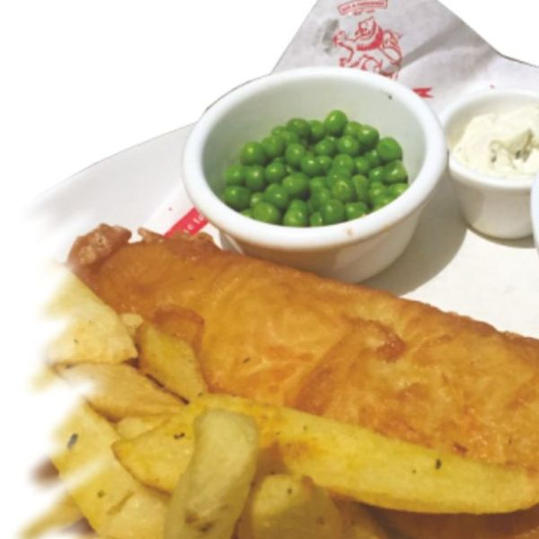 HAND BATTERED  FISH & CHIPS