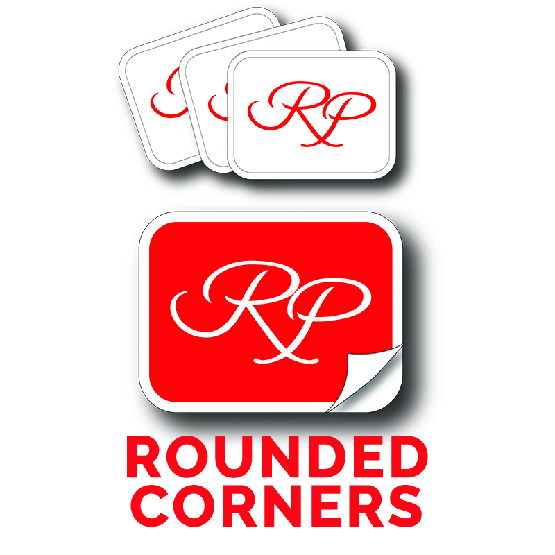 Rounded Corner Stickers RP