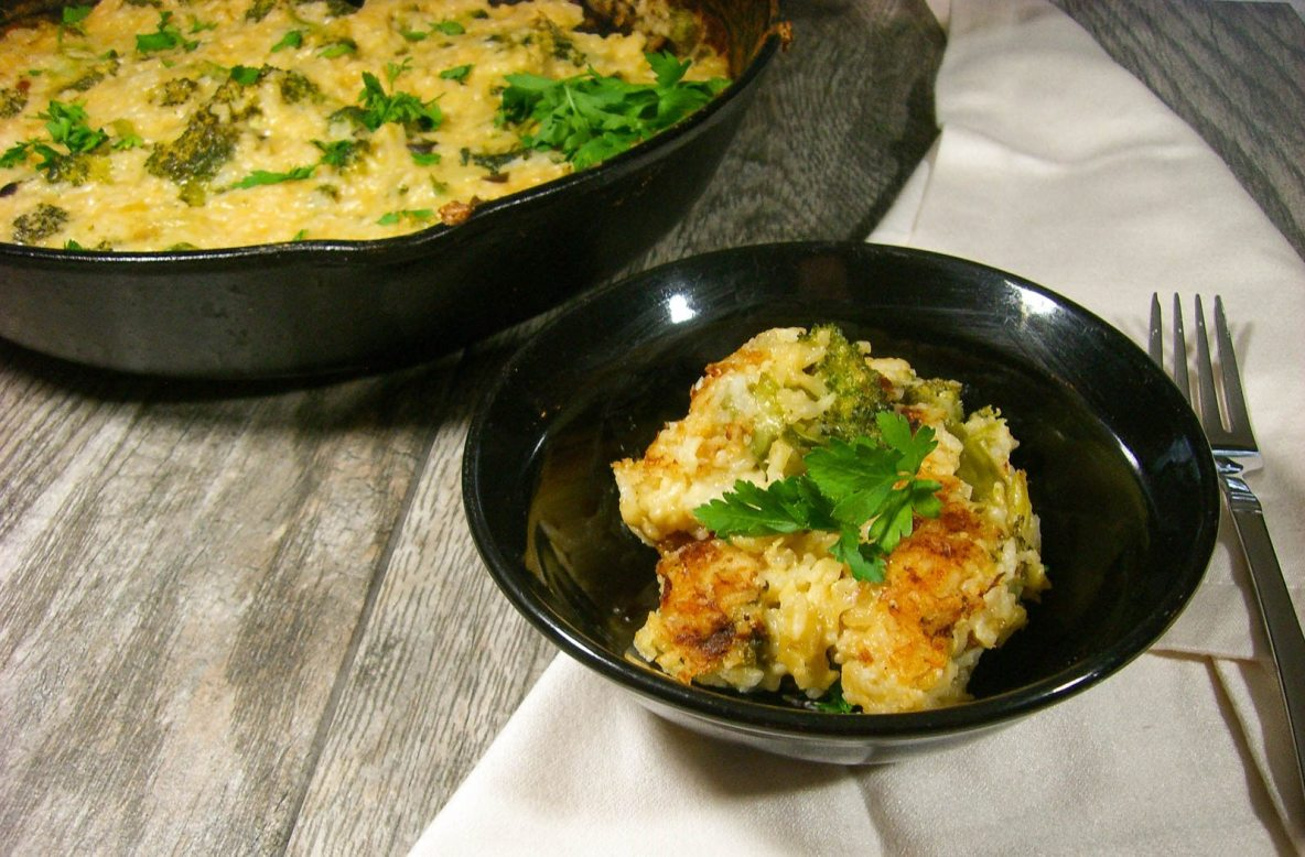 Broccoli Rice Cheese bake-2615