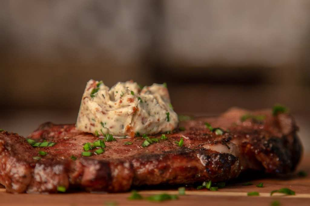 Steak Butter with Bacon and Herbs