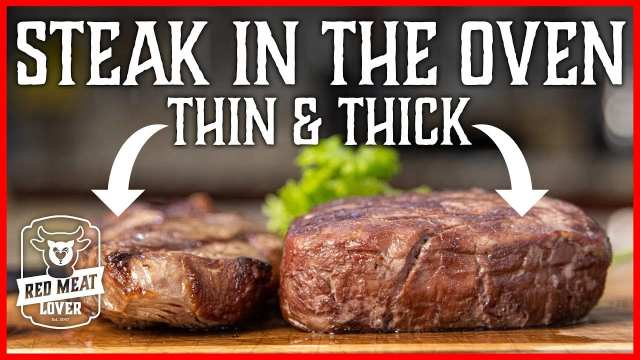 How to Cook Steak in the Oven-Thin & THICK Broil Steak Recipes