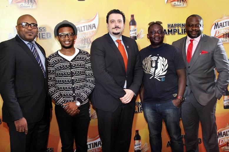 L-R Corporate Affairs Adviser, NB Plc, Kufre Ekanem;  Chukwuma Onye; Marketing Director, NB Plc, Franco Maria Maggi;  Muyiwa Osinaike; Portfolio Manager Non Alcoholic Brands, NB Plc, Yinka Bakare